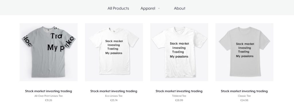 Stock market online shop